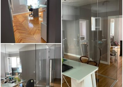 Mamparas divisorias de vidrio en Madrid